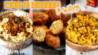 VEGAN MAC & CHEESE 3 WAYS.