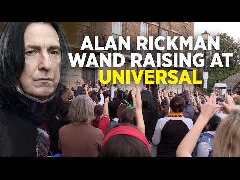 """Wand Raising for Alan Rickman at """"A Celebration of Harry Potter 2016"""" in Universal Orlando"""