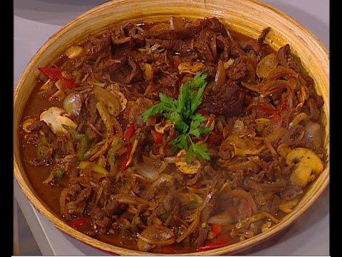 لحم بالخضروات والبهارات الصينيه علي طريقة الشيف #ساره_عبدالسلام من برنامج #سنه_اولي_طبخ #فوود