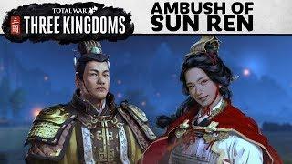 Total War: THREE KINGDOMS - EMBOSCADA de Sun Ren GAMEPLAY
