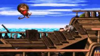 Donkey Kong Country 2 102% Walkthrough : Gankplank Galleon - Pirate Panic
