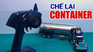 Chế lại xe Container đồ chơi thành xe điều khiển từ xa - Yêu Sáng Tạo