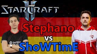 ALLES IN DEUTSCH, RUNDE 2 | Stephano (Z) vs ShoWTimE (P) | Starcraft 2: Kommentiert!