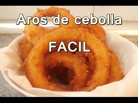 receta de AROS DE CEBOLLA crujientes - ONION RINGS recipe - recetas de cocina faciles y economicas