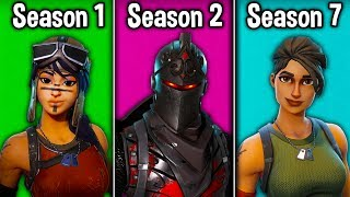 EVOLUTION of the TRYHARD in Fortnite! (Tryhard Skins Season 1-7)