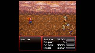 Final Fantasy 6 Snes FFVI vs MARIO