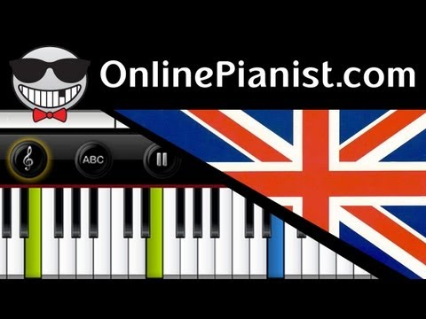 UK National Anthem - God Save the Queen - Piano Tutorial