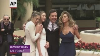 Stallone sisters become Miss Golden Globes