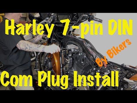 Install Harley 7-pin DIN Music & Communications Kit or Plug   DIY-2014 & Newer