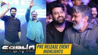 Saaho Pre Release Event Highlights | Prabhas | Shraddha Kapoor | Sujeeth | Telugu FilmNagar