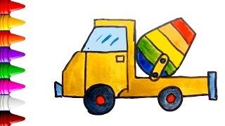 Tô Màu | vẽ và tô màu xe tải, xe oto trở bê tông