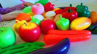 Kids learning fruits and vegetables names. Nice video