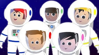 Five Little Astronauts | Nursery Rhymes For Kids | Baby Rhyme