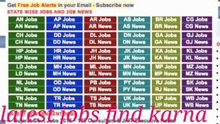 Latest jobs find karna from free job alert