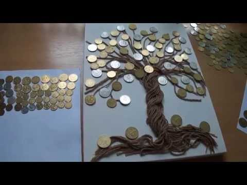 Картины из монет как сделать