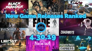New Game Releases Ranked - 4.30.19