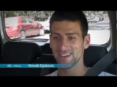 Novak Djokovic The Open Drive: Australian Open 2012 brought to you by Kia