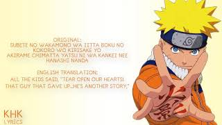 "Soundtrack Opening Naruto 6th Song by: "" Stance punks"" No boy no cry"
