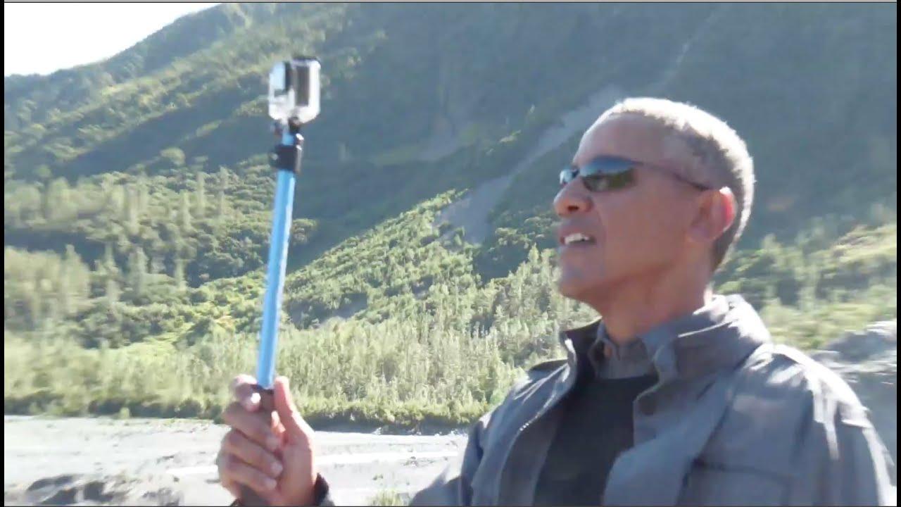 Obama's Selfie Stick Melting Glacier Tour