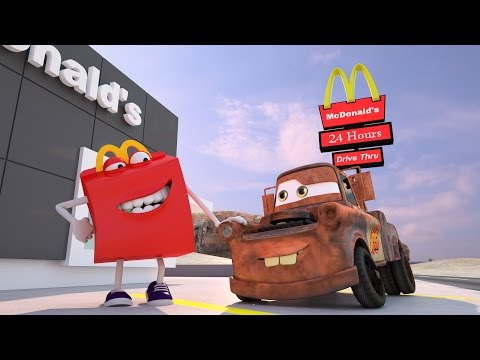 Mater Misbehaves at McDonald's BURGER ! Disney Pixar CARS TOYS MOVIES Happy Meal | Day: 1&2
