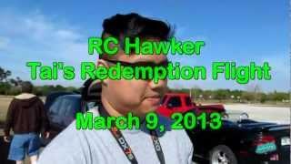 RC Maiden Flight - Crash - Redemption Flight