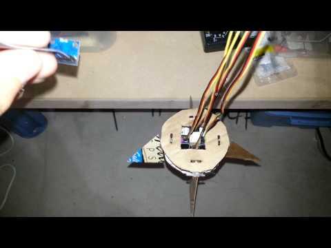 Arduino rocket guidance proof of concept V0.2 (fin demo model)