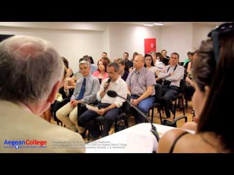 Βράβευση των μαθητών της Βαρβακείου στο Aegean Omiros College από τον καθηγητή, κ. Δ. Νανόπουλο