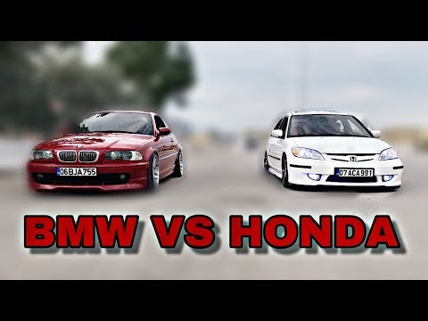 Honda Bmw'ye Kafa Tutarsa!! | Böyle Yarış Görülmedi!! (Herkez Arabasının markasını Yazsın)