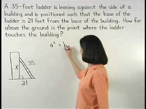 pythagorean theorem word problems math help youtube. Black Bedroom Furniture Sets. Home Design Ideas