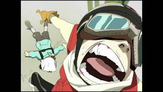FLCL- Official English Clip - Haruko arrives with a BANG! on DVD & BD 2.22.11