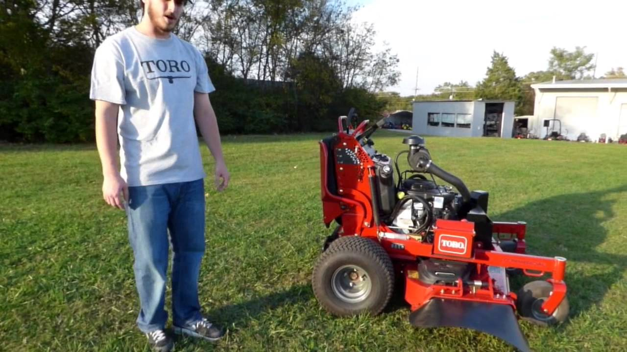 Toro Grandstand Professional Stand-On Mower Review - YouTube