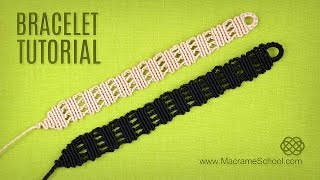 Easy Stripes Bracelet Tutorial | Macrame School