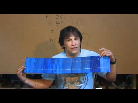 0 less than $1 a watt DIY MAKE YOUR OWN SOLAR PANEL (PART 1)