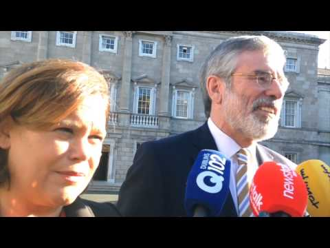 Gerry Adams and Mary Lou McDonald defend tweets from the Sinn Fein leaders' account