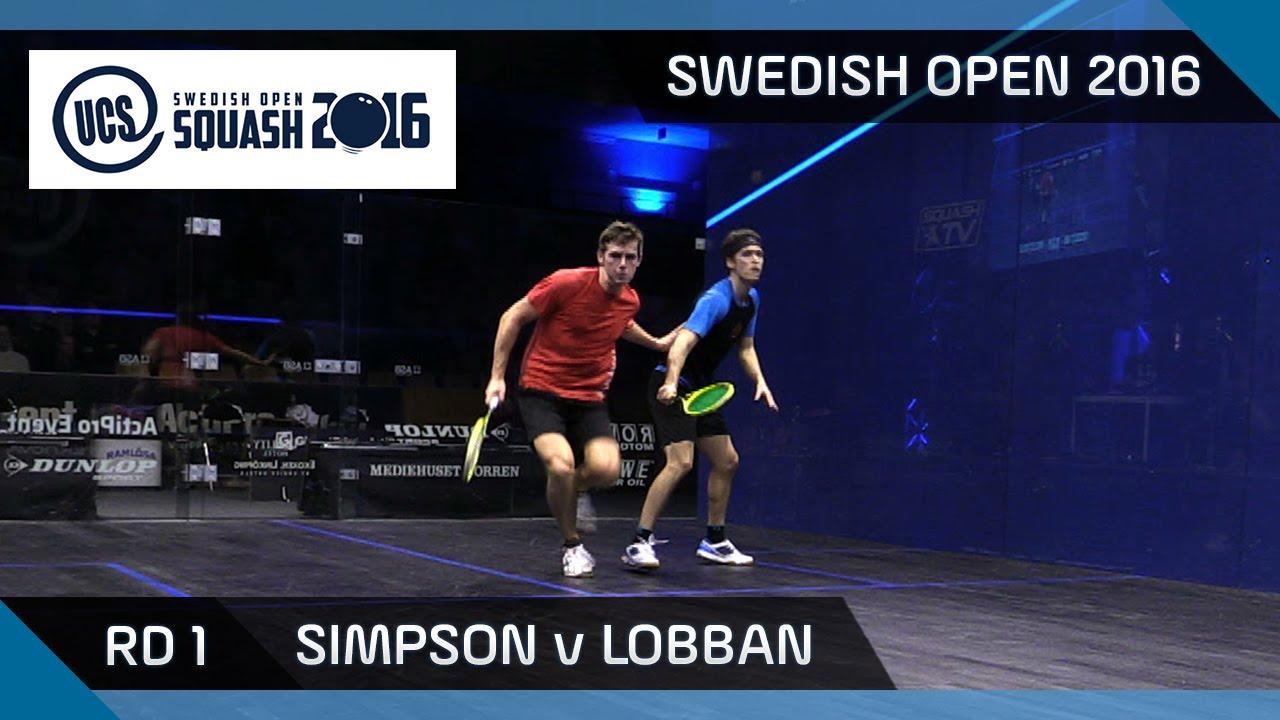 Squash: Simpson v Lobban - UCS Swedish Open 2016 - Rd 1 Highlights