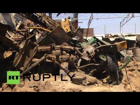 State of Palestine: Buildings damaged after Israeli airstrikes on Gaza