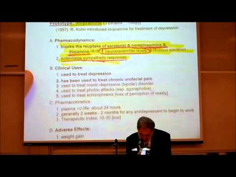 PHARMACOLOGY; TRICYCLIC ANTIDEPRESSANTS & ANTI PSYCHOTICS by Professor Fink thumbnail