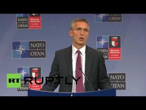 Belgium: Stoltenberg tells Russia to 'respect' Ukraine's territorial integrity