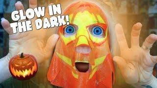 GLOW IN THE DARK HALLOWEEN FACE MASKS!