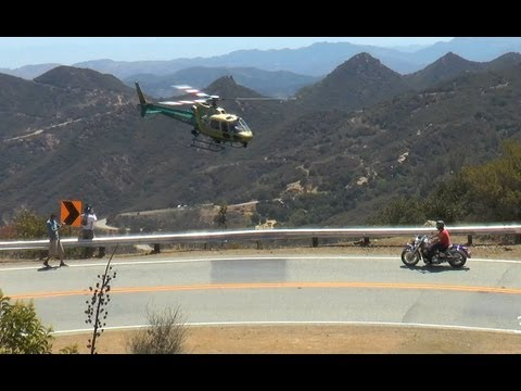 Police Helicopter Up Close on Mulholland