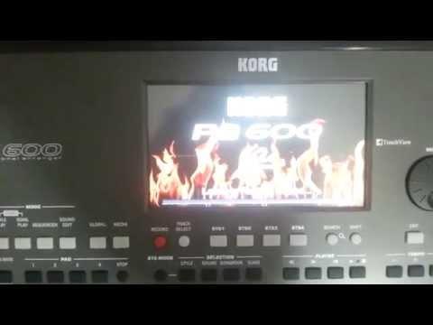 KORG Pa600/QTV2  - Sampling Mode Import WAV KMP PCG KSF SF2