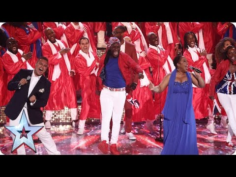 100 Voices of Gospel bring the house down! | Semi-Final 1 | Britain's Got Talent 2016