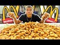 INSANE 1000 MCDONALD'S CHICKEN NUGGETS CHALLENGE (IMPOSSIBLE) *200,000 CALORIES*