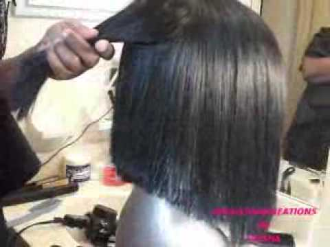 Quickweave bob wig....cut and styled