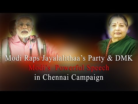 Modi takes on Jayalalithaa's Party&DMK-Modi's  Powerful Speech in Chennai Campaign - RedPix 24x7