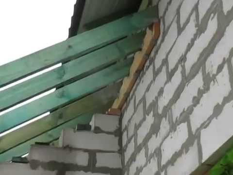 Односкатная крыша пристройки своими руками