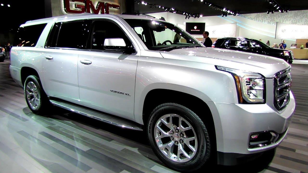 2015 gmc yukon xl exterior and interior walkaround 2014 detroit auto show youtube