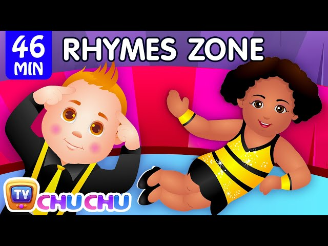 Head, Shoulders, Knees & Toes   Popular Nursery Rhymes Collection for Kids   ChuChu TV Rhymes Zone