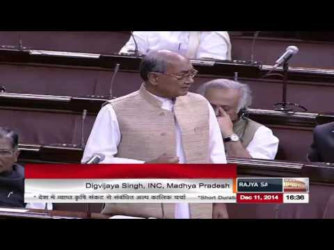 Sh. Digvijaya Singh's comments on prevailing agrarian crisis in the country