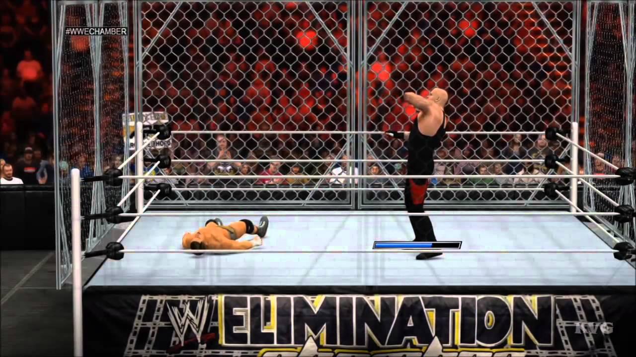 WWE 2K15 Steel Cage Match Undertaker Vs Cody Rhodes